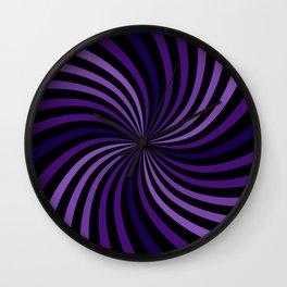 Purple Hypnotizing Swirl Wall Clock