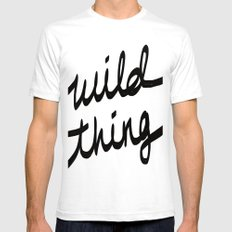 Wild Thing White LARGE Mens Fitted Tee