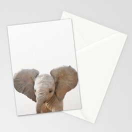 Baby Elephant, Baby Animals Art Prints by Synplus Stationery Cards