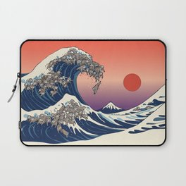 The Great Wave of Sloth Laptop Sleeve