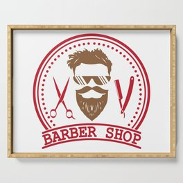 Barber shop Serving Tray