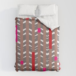 TRIBAL CHEVRON | mauve red Comforters
