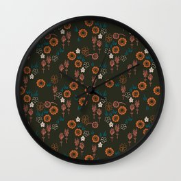 Mongolian Field Wall Clock