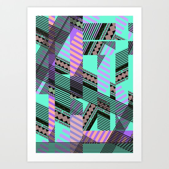 ELECTRIC TUNELS /// Art Print