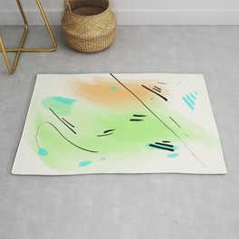 Abstract sunrise S1 Rug