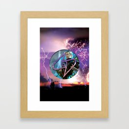 Ral Zarek the Lightning Bender Framed Art Print