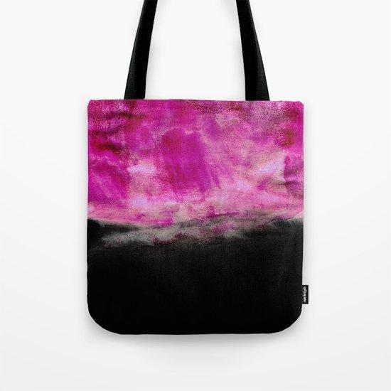 Magenta & Black Tote Bag