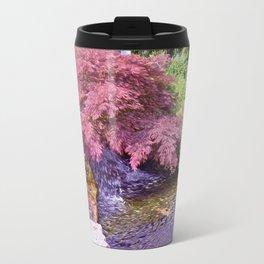 Japanese Garden waterfall Travel Mug