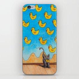 Duck Duck Cat iPhone Skin