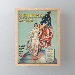 Columbia Calls - Enlist Now Framed Mini Art Print
