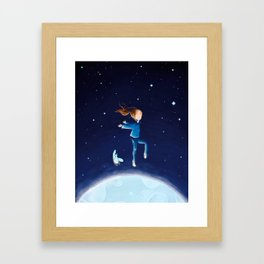 moon dancing Framed Art Print