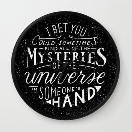 All of the Mysteries of the Universe Wall Clock