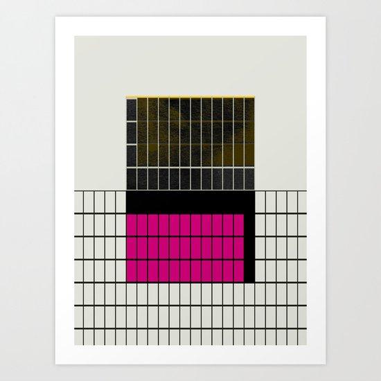 minimal geometry 2 Art Print