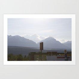 Mountains at sunset along the Coquihalla Art Print
