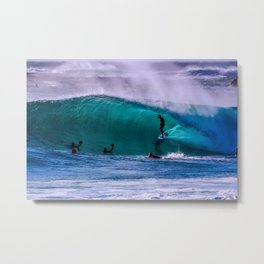 Wave Series Photograph No. 19 - Inside the Wave Metal Print
