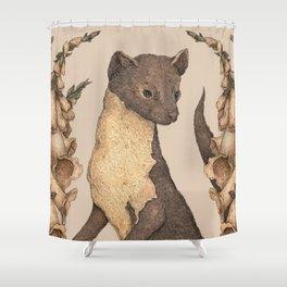 The Marten and Foxglove Shower Curtain