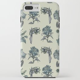 Botanical Florals | Vintage Blue iPhone Case