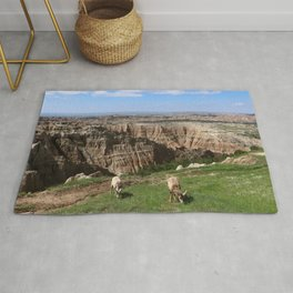 Bighorn Sheep At Sage Creek Rug