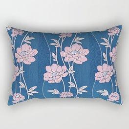 Rose Quartz Flower Garlands Rectangular Pillow