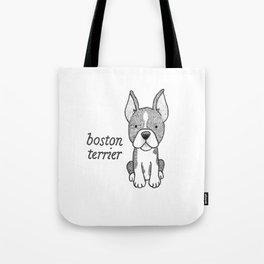 Dog Breeds: Boston Terrier Tote Bag