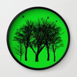 birds on the trees Wall Clock