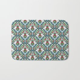 Bluebird Art Deco Pattern  Bath Mat