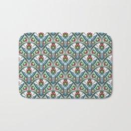 Bluebird Art Deco Pattern  Bath Mat