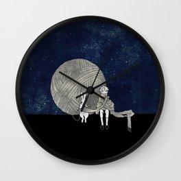 long scarf (moon) Wall Clock