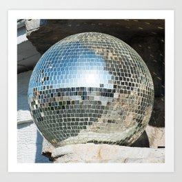 Mirrors discoball Art Print