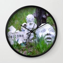 Yard Art Garden Decor Wall Clock