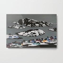 Kangaamiut Coast, Greenland Metal Print