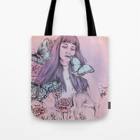 kate bishop Tote Bags featuring Kate by TAZAYOOT
