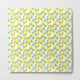 lemon mosaic pattern art seamless  Metal Print