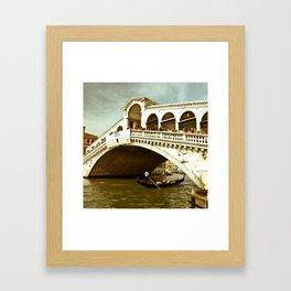 Ponte di Rialto Framed Art Print