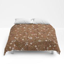 Chocolate Mocha Paw Prints Comforters