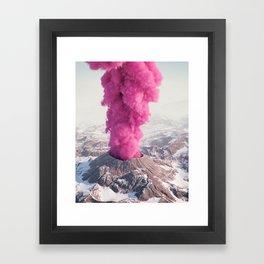 Pink Eruption Framed Art Print
