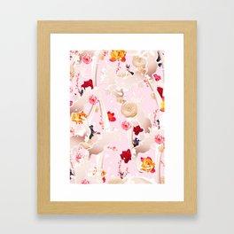 Milky Flower Framed Art Print