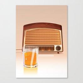 Radio & Whiskey Canvas Print
