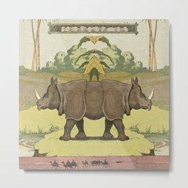 Rhino^2 Metal Print
