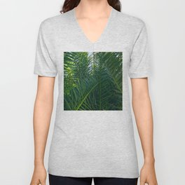 Luxurious Large Tangles Of Exotic Palm Leaves Unisex V-Neck