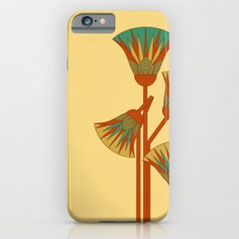 Ancient Egyptian lotus - Colorful iPhone Case