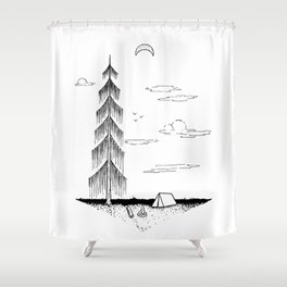Droopy Tree Shower Curtain