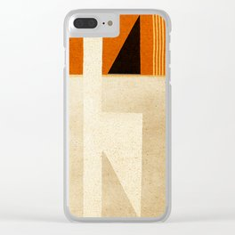 Solitaire du Figaro (ocre) Clear iPhone Case