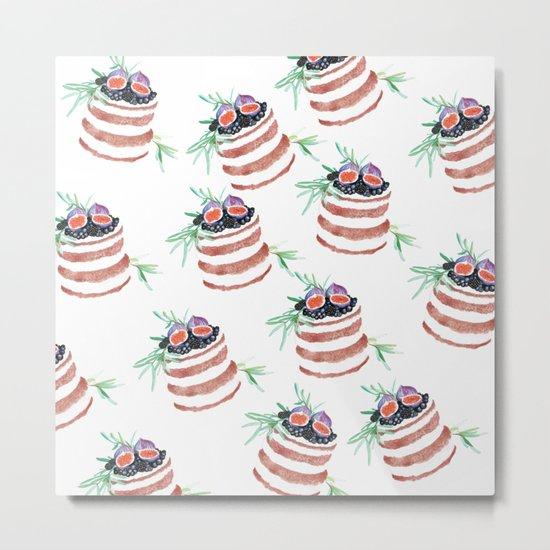 Fig cakes pattern Metal Print