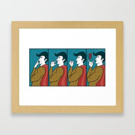 Hero doesn´t give a s*** Framed Art Print