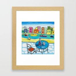 A Day at Greek Island Framed Art Print