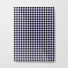 Black and Pale Lavender Violet Diamonds Metal Print
