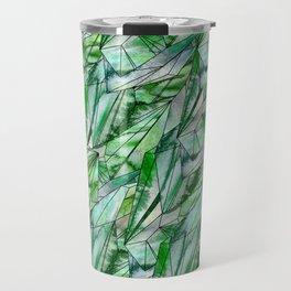 Crystal Emerald Pattern Green Gem 1 Travel Mug