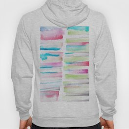 14   | 181101 Watercolour Palette Abstract Art | Lines | Stripes | Hoody