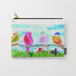 Birds and Butterflies Carry-All Pouch